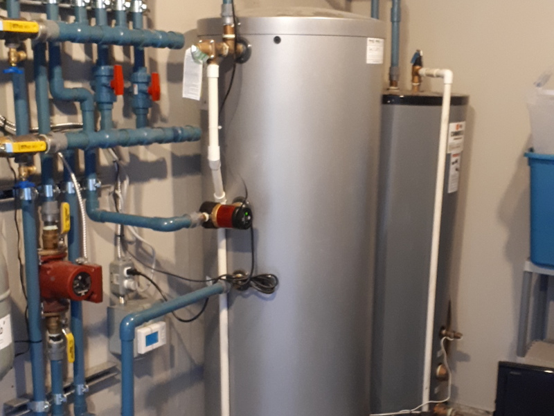 hot water tank system